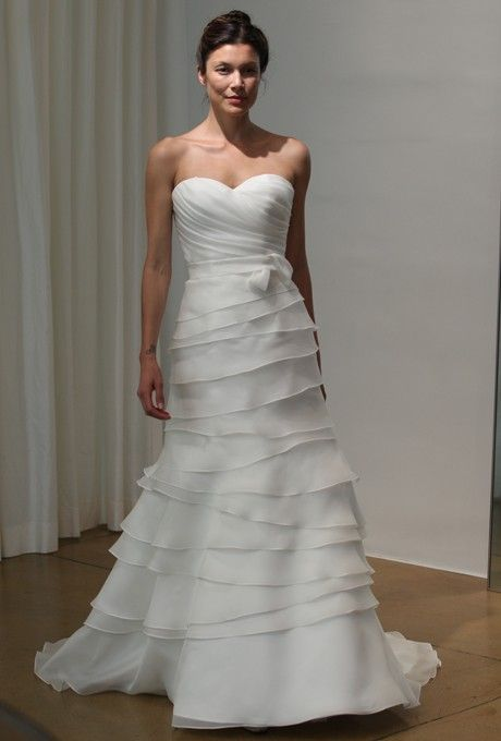 Judd Waddell - Spring 2013 - Marina Strapless Layered Organza A-Line Wedding Dress with Sweetheart Neckline $334.99 from http://www.www.retroic.com   #strapless #marina #organza #judd #wedding #sweetheart #neckline #layered #bridal #aline #waddell #weddingdress #mywedding #bridalgown #with #spring #dress