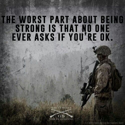 PTSD awareness. Leave no man behind.