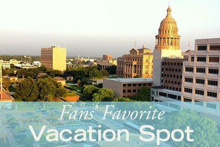 Fan's favorite vacation spots.