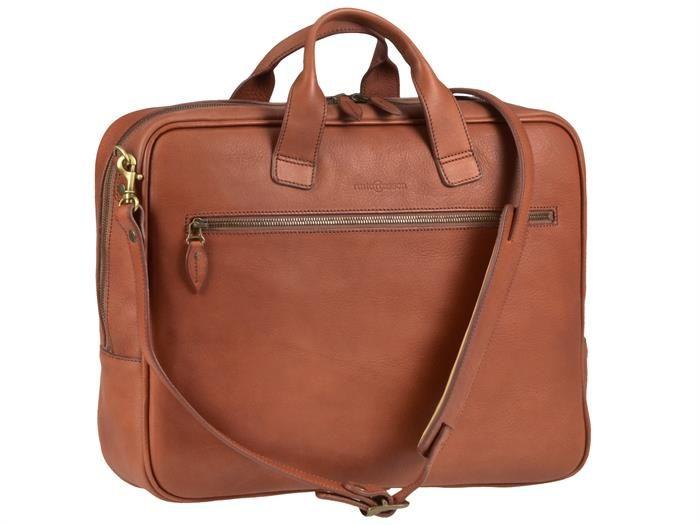 Aktentasche Leder mit 1 Fach Damen Herren Umhängetasche Businesstasche Tasche Ledertasche cognac braun
