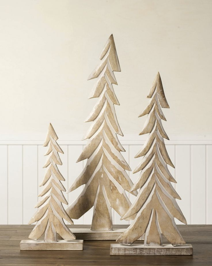 Wood Tabletop Christmas Trees