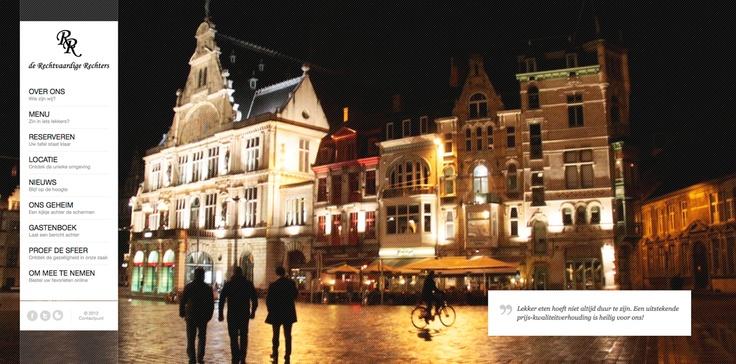 Website De Rechtvaardige Rechters, brasserie in Gent