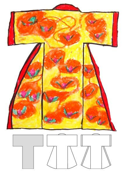 Art Projects for Kids: multicultural: kimono drawing