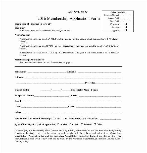 Church Membership Form Fresh 15 Membership Application Templates Free Sample Registration Form Sample Booster Club Membership Application Form