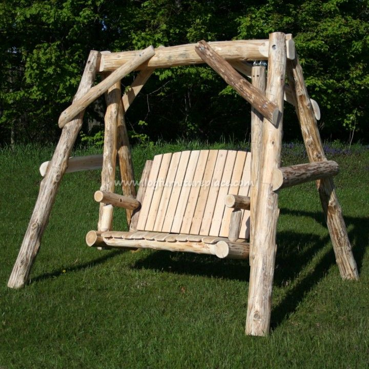 Cedar outdoor furniture woodworking projects plans for Log swing plans