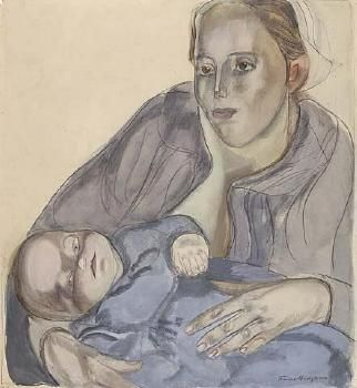Frances Hodgkins - Auckland Art Gallery. There's something about FH's way with light and shadow, that is abstract, suggestive, yet carries such weight of meaning.