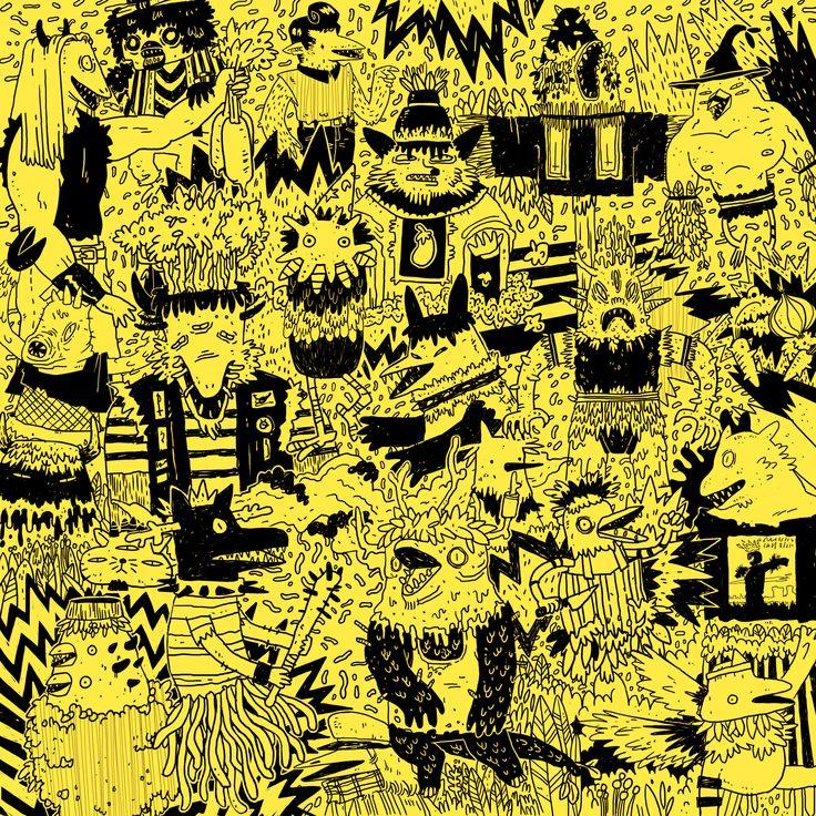 Artwork for: http://rizomanoise.bandcamp.com/  By: Elena Serrato