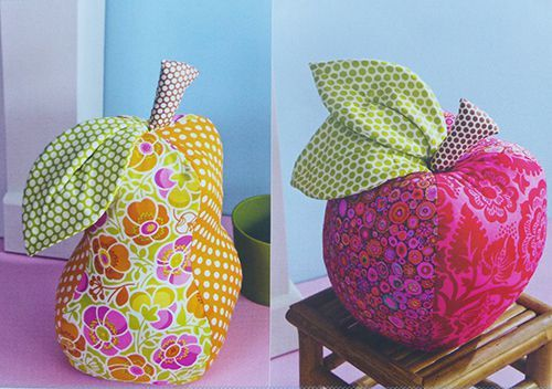 Tuto pour réaliser une pomme, une poire et une noisette  en tissu déhoussable, tuto pomme en tissu