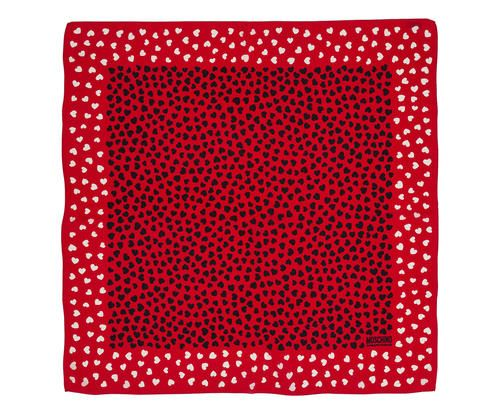 Foulard in seta stampata pois rosso 90x90 cm Colore rosso multicolor  ad Euro 89.00 in #Mf fashion spa #Misc apparelaccessories scarves