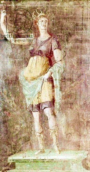 Statue of Diana | Pompeii | c. 50-59 | Fresco | Roman | 1st century AD | Museo Archeologico Nazionale | Naples, Italy | Giraudon | The Bridgeman Art Library