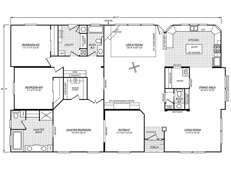 Riverknoll 40663k Fleetwood Homes Houses Pinterest