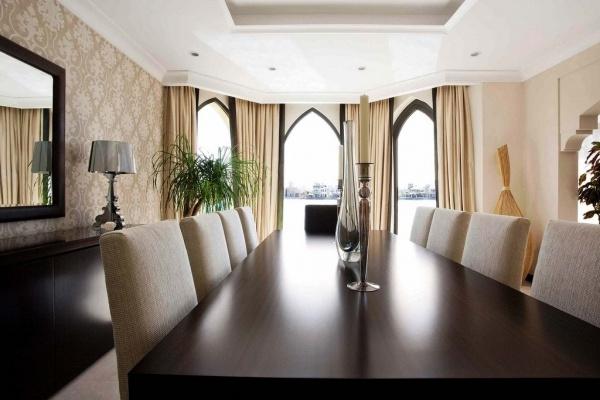 Vacation villa interior at Dubai Palm Jumeira.