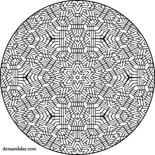 24 best mandala para imprimir images on pinterest mandalas photo illustration and pictures - Mandala facile ...