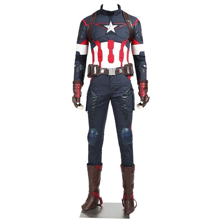 Aliexpress.com: Comprar La Edad de Ultron Vengadores Capitán América Cosplay Steve Rogers Superhéroe Adulto Hombres Traje Por Encargo De Halloween Outfit de steve rogers fiable proveedores en manles cosplay store