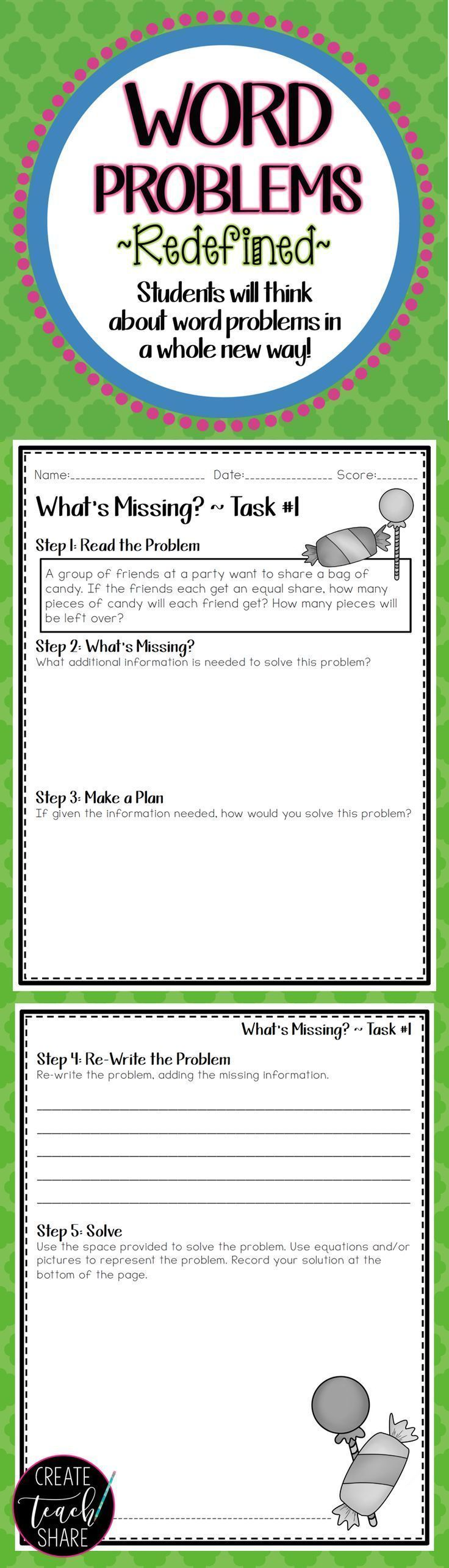 Best 25 word problems ideas on pinterest math word problems i was looking for strategies to increase student understanding of word problems this resource has robcynllc Image collections