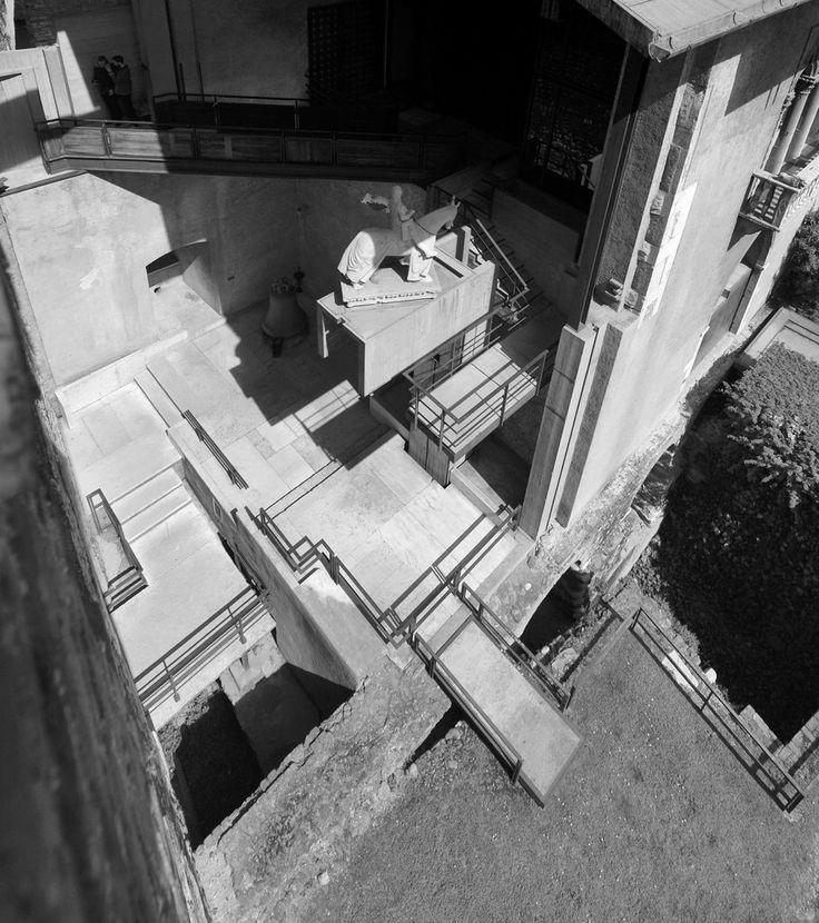 Carlo Scarpa Architect The Cangrande Space Castelvecchio Museum Verona 1956 1973