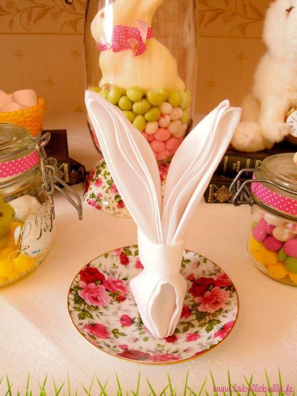 Une sweet table Alice au pays des Merveilles pour un baptême de Pâques