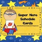 Enjoy these 17 FREE Super Hero schedule cards.  They coordinate with my Super Hero Theme Classroom Bundle: http://www.teacherspayteachers.com/Produ...