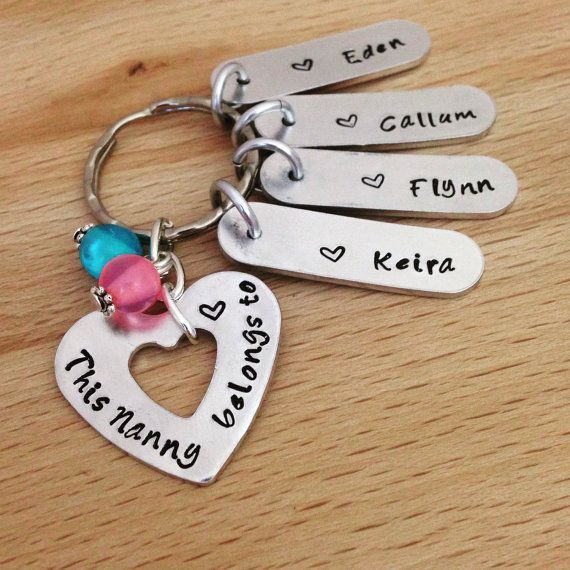 personalised keyring, Nanny gift, nana gift, Grandma present, grandparent gifts…