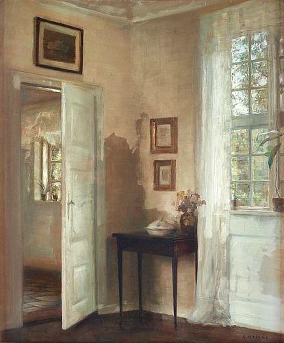 Carl Holsoe Danmark 1863-1935 Borgerlig interiör.