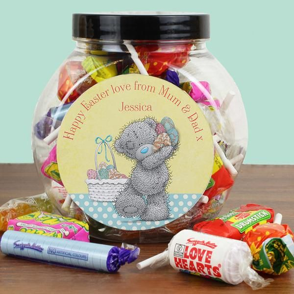 79 best personalised easter gifts images on pinterest easter personalised me to you easter sweet jar the hut market personalised gift shop negle Images