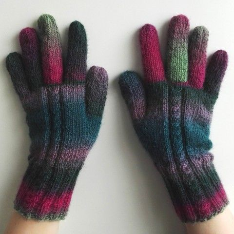 Rukavice prstové - Mámení zelená barevné fialová růžová pestré rukavice rukavičky petrol prstové ivka