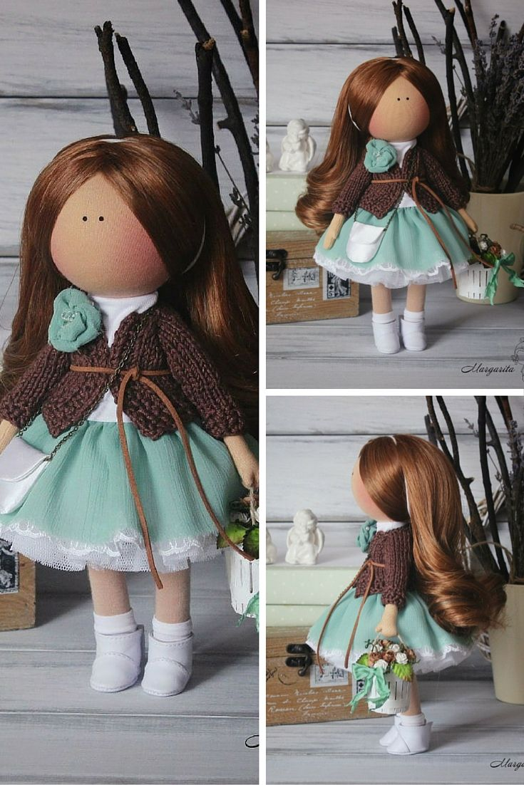 Baby doll handmade, collection doll, fabric doll, tilda doll, art doll