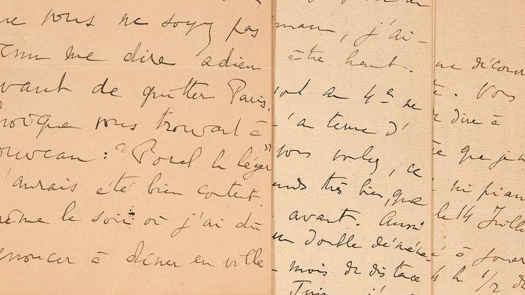La lettre sur les «bruits des ébats sexuels des voisins» de Marcel Proust, rédigée par l'intéressé, a été vendue aux enchères 28.336 euros, soit plus de quatre fois son estimation.