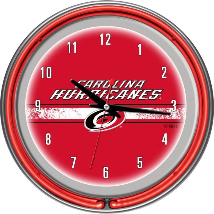 Trademark Games Carolina Hurricanes 14'' Neon Clock, Team