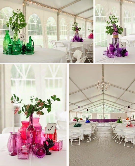 colourful wedding centerpieces