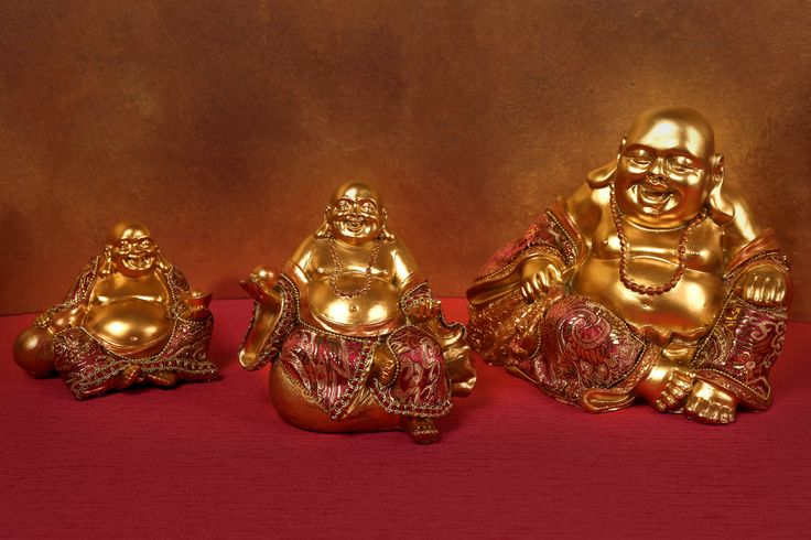 Sitting Chinese Buddha statues with Red and Gold Effect, multiple sizes #Buddha #homedecor #orient #giftware