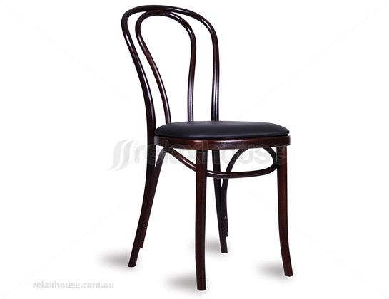 Bent wood thonet chair repro with seat cushion some for Thonet beistelltisch replica