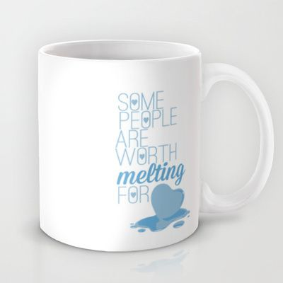 frozen.. some people are worth melting for... olaf funny quote Mug by studiomarshallarts - $15.00