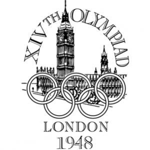 Official logo for the 1948 London Olympic games.