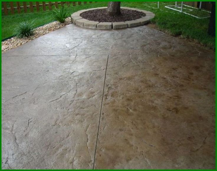 Staining Rough Concrete Patio Patio Ideas Outdoor