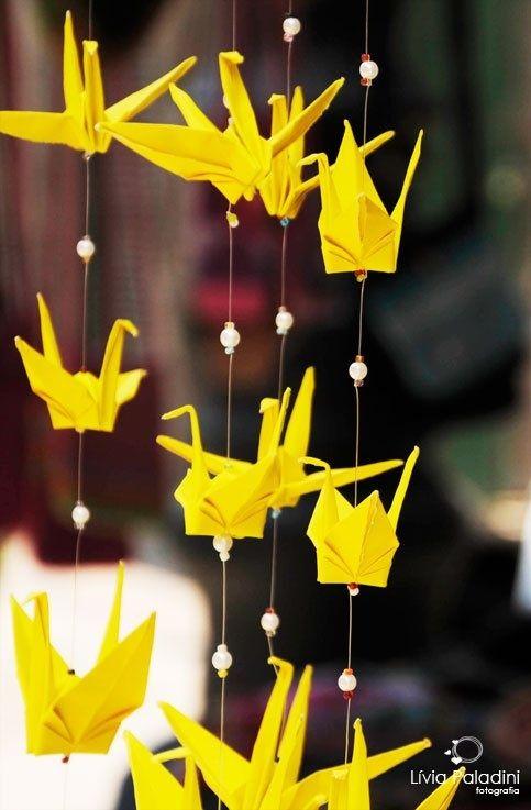 Origamis fica um charme  e também fica barato.
