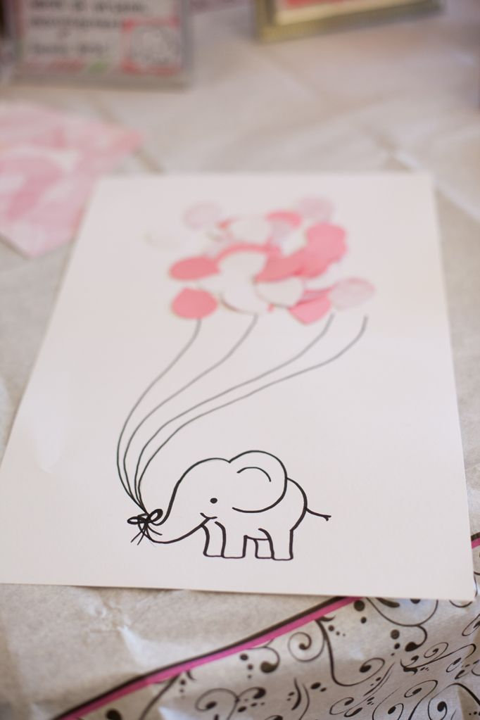 Adorable guest book for a baby shower