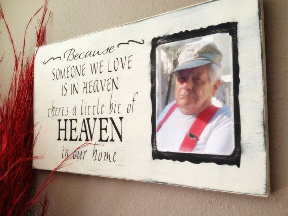 Because Someone We Love Is in Heaven........ Custom rustic wooden sign. Great memory for your loved one. on Etsy, $41.99