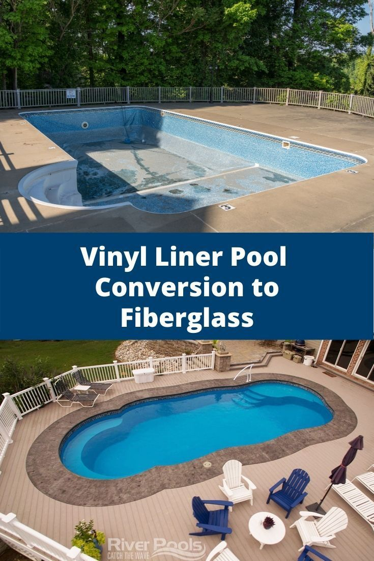 How Much Does It Cost To Replace A Vinyl Liner Pool With Fiberglass Fiberglass Swimming Pools Vinyl Liners Vinyl Pool