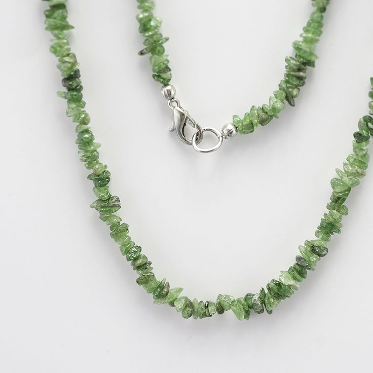 Tsavorite/greenGarnet Gemstone Necklace