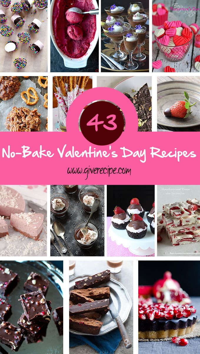 No-bake Valentine's Day Recipes are perfect for the people who doesn't like baking. All of these are easy recipes that you can make for your beloved one.