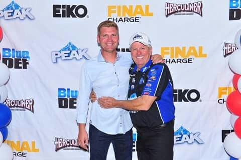Clint Bowyer and John Force