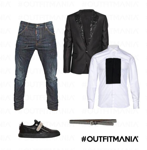 Il venerdì al locale | #outfitmania #outfit #style #fashion #dresscode #amazing #t-shirt #jeans #man #wear #black  #dsquared #htc #like #musthave #wear #partyoutfit #ideas #cute | CLICCA SULLA FOTO PER SCOPRIRE L'OUTFIT E COME ACQUISTARLO