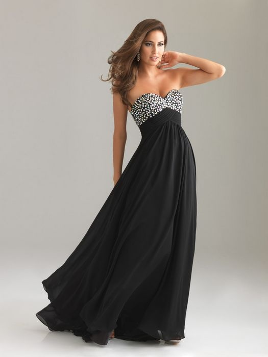 4db3183165d Sequin Top Long Black Strapless Chiffon Prom Dress  Long Black Strapless  Prom Dress  -  138.99   Fashion dresses