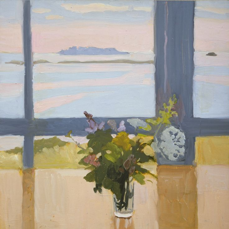 thusreluctant:  Flowers by the Sea by Fairfield Porter