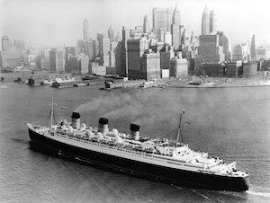 Cruising through history.. Maiden voyage of RMS Queen Mary in 1936.Visit http://bit.ly/2jJLGKZ