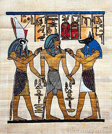 Pintura egípcia do papiro