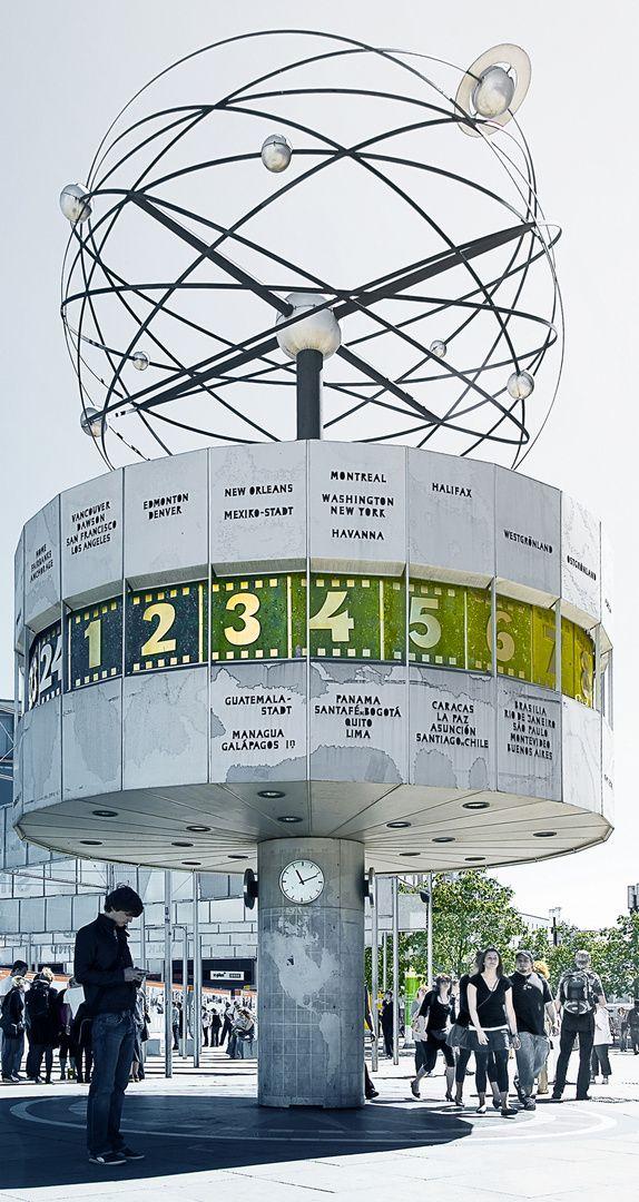Berlin Alexanderplatz Weltzeituhr Weltzeituhr Weltzeituhr Berlin Berlin Stadt