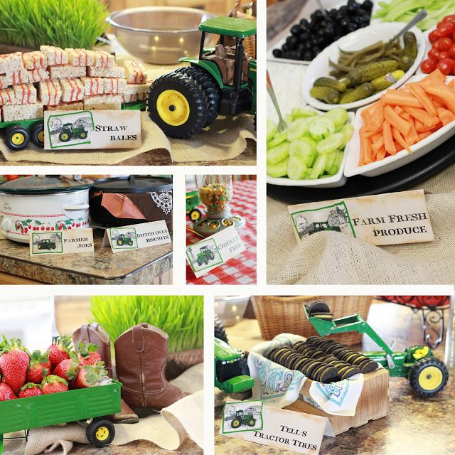 Farm Baby Shower!!! Great themed treats. not linked to the site - argh - but this pic gives me ideas