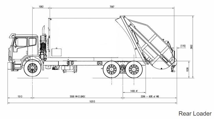 garbage truck diagram box truck diagram #11